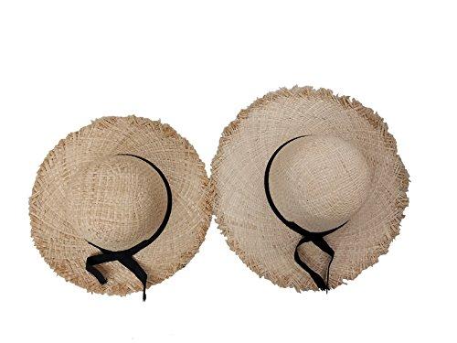 tesa Nature per Vacanze Woman Girl a Adult larga Child Sun Capeline Set Straw 2Pc Hat estive Acvip RPxT1W