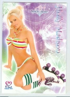 Holly Madison trading card (Playboy Playmate Swimsuit Model Roller Skates) 2006 Benchwarmers #7 from Autograph Warehouse