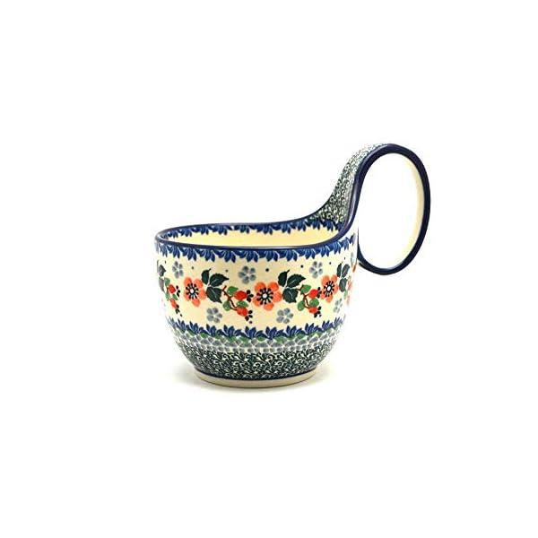 Polish Pottery Loop Handle Bowl – Cherry Blossom