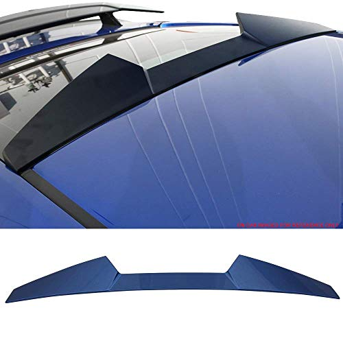 (Pre-Painted Roof Spoiler Fits 2016-2018 Honda Civic | V Style #B593M Aegean Blue Metallic ABS Rear Tail Lip Deck Boot Wing by IKON MOTORSPORTS)