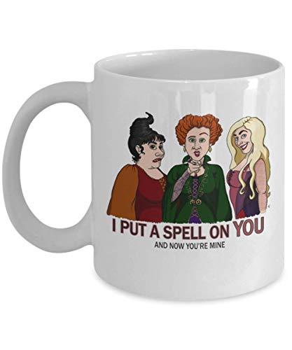 I Put A Spell On You and Now You're Mine Squad Hocus Pocus Halloween Mug, hocus pocus billy bones butcherson halloween saints Mug, samhain, salem spoo -