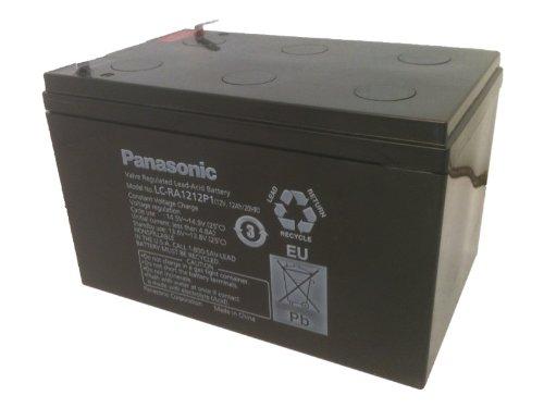 Panasonic LC-RA1212P1 Black Large 12V 12Ah VRLA Battery with F2 Terminal (Panasonic Sla Batteries)