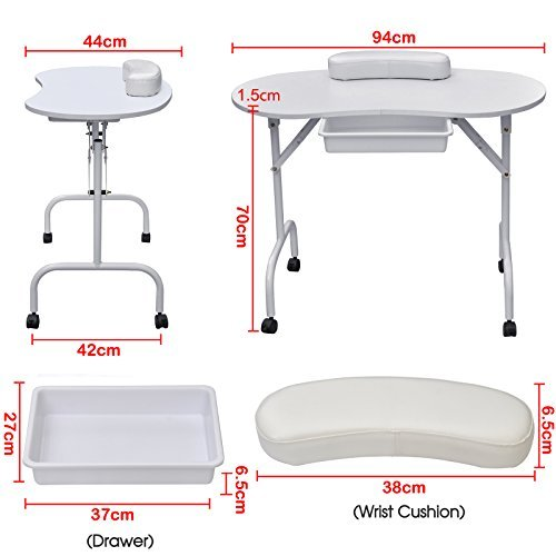 World pride portable manicure table nail technician desk for Portable manicure table nail technician workstation