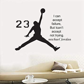 code promo fc812 8e6aa KUANGJING Michael Jordan Basketball Inspirational Vinyle ...