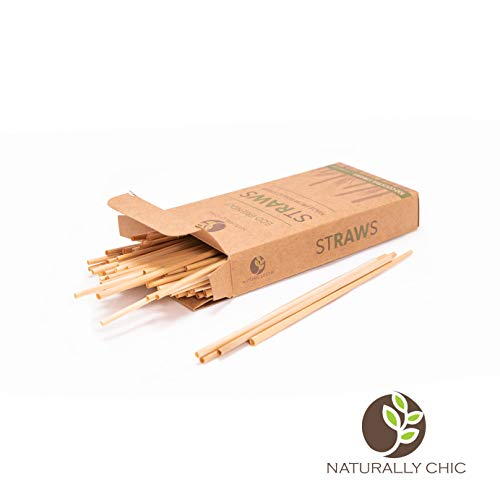 - Naturally Chic Biodegradable Straws | Compostable Plastic-Alternative Plant-Based Products made from Wheat Hay - Eco Friendly