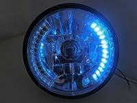 Motorcycle Blue 26 LED Halo Headlight Turn Signal with 35W HID 6000W for Harley Honda Suzuki Kawasaki Yamaha