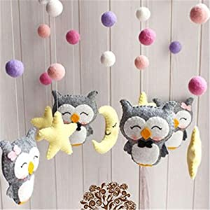 Baby Crib Holder Rattles Bracket Set Bed Bell Material Package Toy Pregnant for Baby,Cartoon Animal Hanging Rattle…