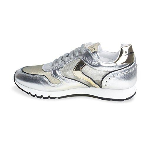 Sneaker für Damen JULIA MESH STUDS NAPPA LUX/TU - von Voile Blanche - Farbe Argento-platino