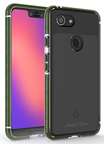 Impact Gel Compatible with Google Pixel 3 XL Crusader Lite Series Protective Slim Case (Army Green)