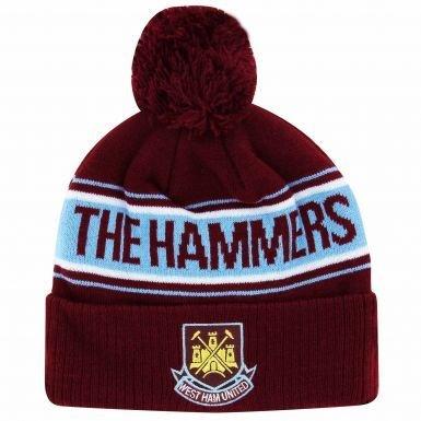 West Ham United Ski Hat Beanie Winter Crest Gift New Winter Gift