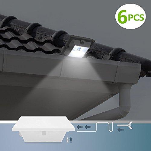 howfine led solar bright lights motion sensor outdoor light wireless
