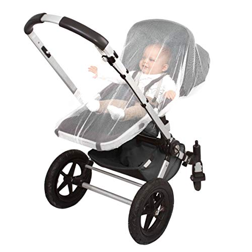 EVEN Naturals MOSQUITO NET for Stroller, Baby Carrier, Carriage, Infant Car Seat, Gift, Soft Insect Shield Netting Accessories, Babies Fly Screen Protection, White Jogging Bug Net, Easy Installation