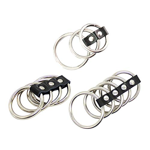 - CUIJIUSHILV Metal Penis Loop Rings Cock Rings Sex Toys for Men Male Time Delay Premature Ejaculation Cock Ring Sex Products 5 Rings