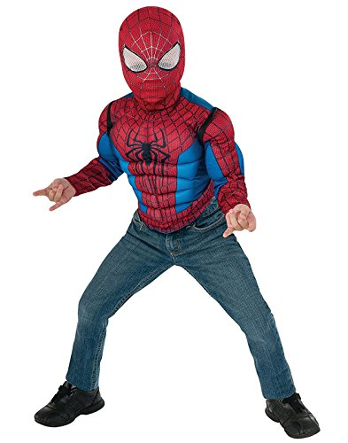 Marvel Spider-Man Muscle Chest Shirt Box (Spider Man 2016 All Costumes)