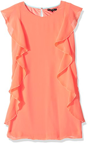 My Michelle Big Girls' Ruffle Sleeve Dress, Light Coral, 10 (My Michelle Clothes)