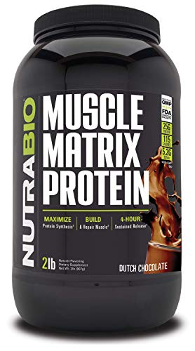 NutraBio Muscle Matrix – Whey Protein Blend Chocolate, 2 Pounds