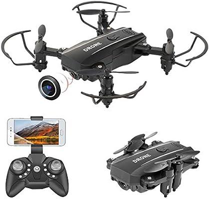 Mini Drone plegable con cámara, WIFI FPV Quadcopter de 2.4 GHz con ...
