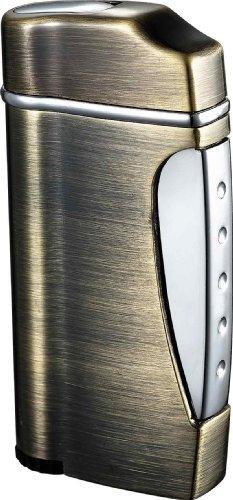 (Visol Nolet Satin Nickel Wind-Resistant Torch Flame Lighter)