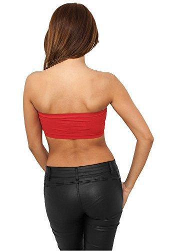 Urban Classics - Camiseta sin mangas - para mujer Rojo