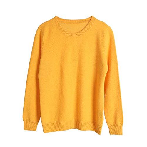 Di Ursfur maglione Cashmere Ursfur Giallo maglione TfqnWxF5x