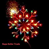 Christmas Window Multicolour or Warm White Snowflake Indoor Use Light Up Xmas Light 35 x 35cm Battery Operated