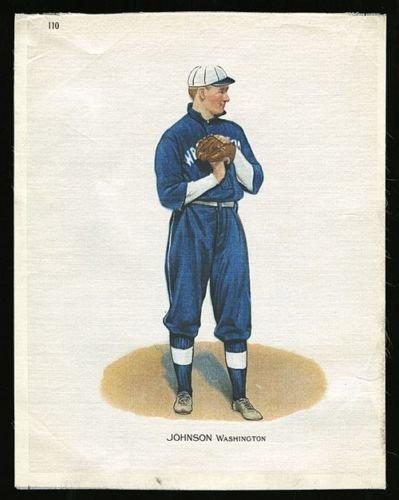 - 1912 S81 Large Silk Tobacco Premium #110 Walter Johnson Washington
