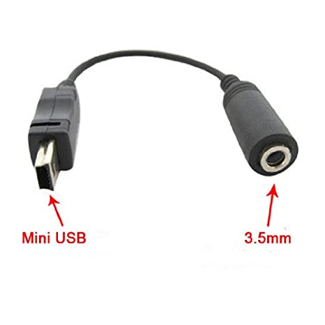 mini usb to 3 5mm headphone jack for mobile phone: amazon co uk: electronics