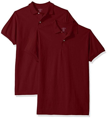 Jerzees Big Boys' Spotshield Youth Jersey Sport Shirt (2-Pack), Maroon, Large