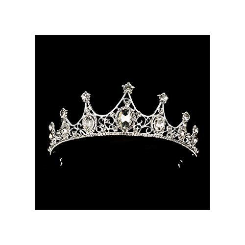 Black Crown Bridal Tiaras Princess Queen Headband Pageant Baroque Crowns Bridal Hair AccessoriesSilver