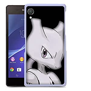 Case88 Designs Pokemon Mewtwo Protective Snap-on Hard Back Case Cover for Sony Xperia Z2