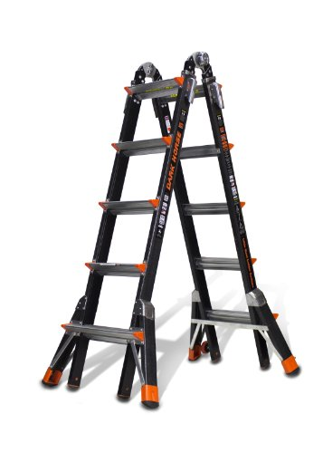 Little Giant Ladder Systems 15145-001 300-Pound Duty Rating Fiberglass Multi-Use Ladder ()