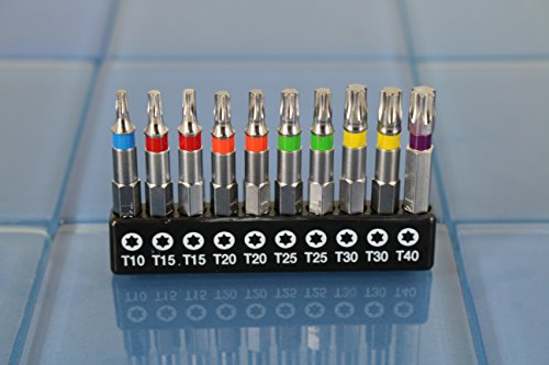 TEMO 14 pc Color Coded T10-T40 Torx Impact Ready 2