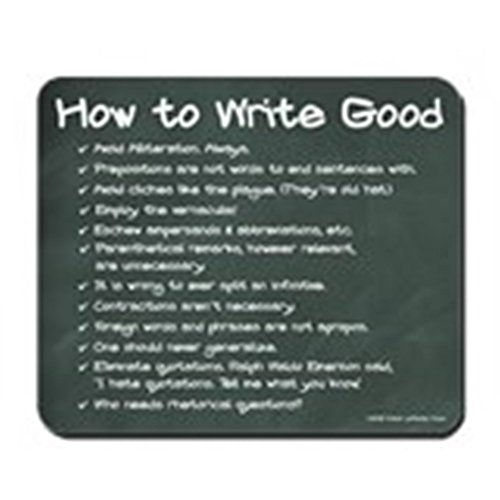 CafePress - How to Write Good Chalkboard Mousepad - Non-slip Rubber Mousepad, Gaming Mouse - Ship To With How Tracking
