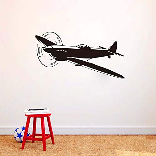 ponana Baby Nursery Wall Sticker DIY Classic Airplane Wall Decal Silhouette for Kids Room Removable Wall Stickers 59X31Cm ()
