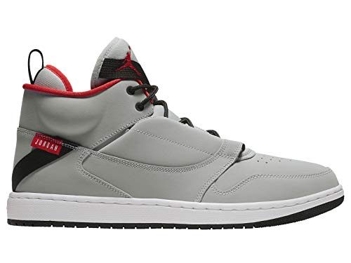 newest 777cc 228a2 Nike Jordan Fadeaway Retro Basketball Shoe, Wolf Grey White-University Red  (10