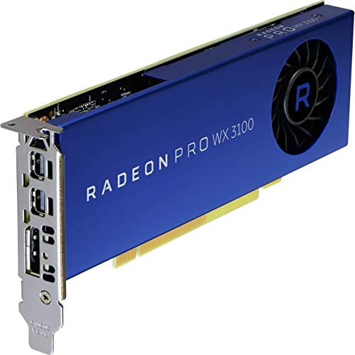 AMD Radeon Pro WX 3100 Graphic Card - 1.22 GHz Core - 4 GB GDDR5 - Half-Length - Single Slot Space Required -  100-505999