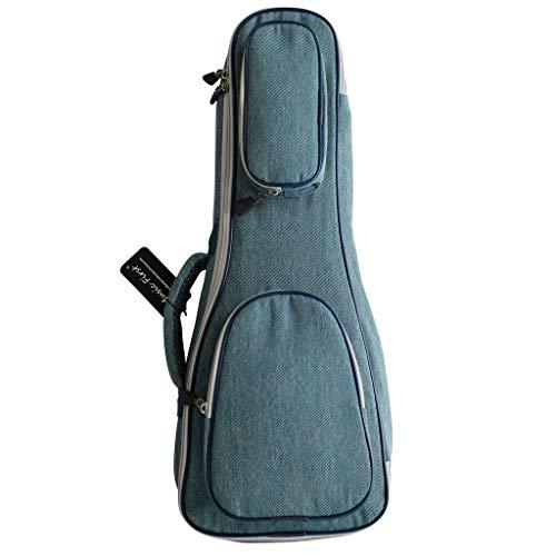 MUSIC FIRST Original Design 15mm Thick Vintage Style Pure Cotton Jeans Cloth/Denim Ukulele Case, Ukulele Bag, Ukulele Soft Case, NEW ARRIVAL! (Fit for 23~24 inch Concert Ukulele, Denim) (Best Concert Ukulele 2019)