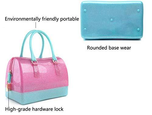 Tamaño One Cristal Marea de Transparente Bolsa para y de Verano Jalea Color Size Paquete de de Mujer Orange Primavera Bolsa 46UTwT