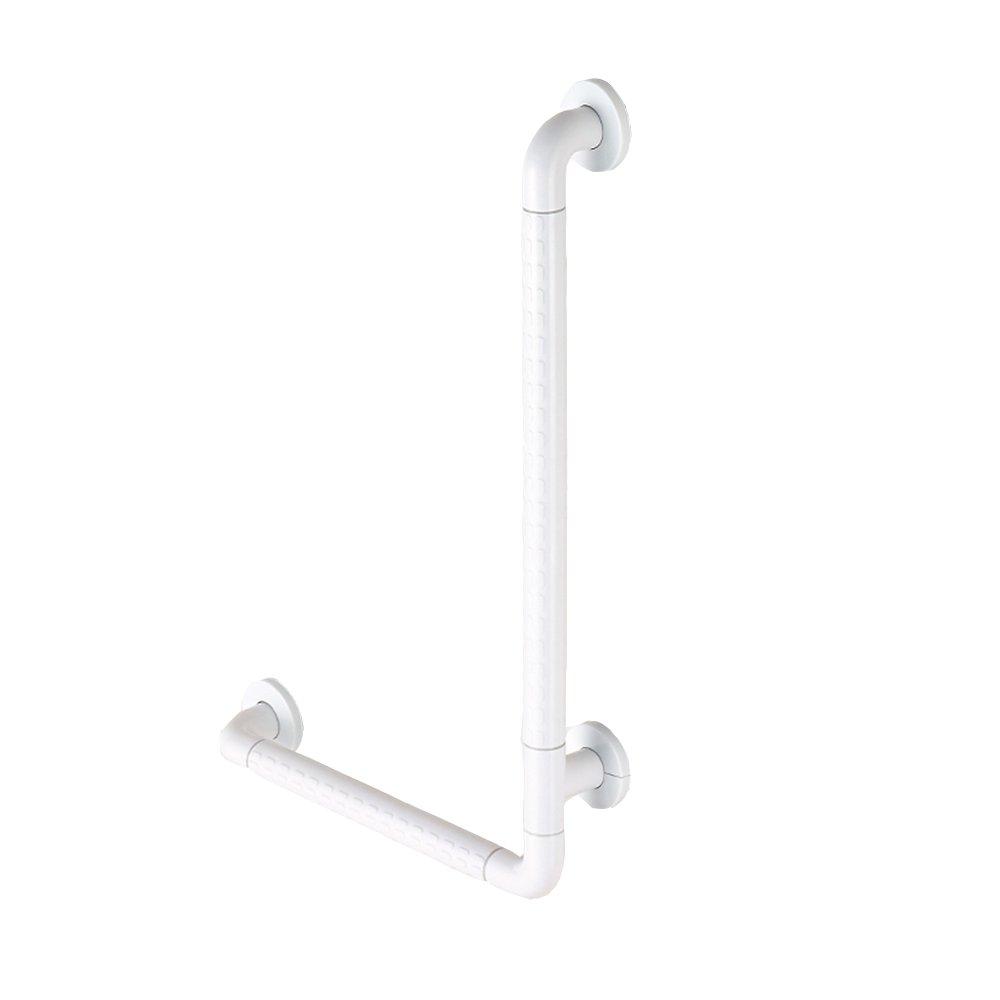 ZZHF fushou 手すりLタイプ肘掛けコンポジットステンレススチール手すり滑り止め浴室手すり安全手すり高齢者用トイレ手すり (色 : B, サイズ さいず : 40*60センチメートル) B07DVJZG2M  B 40*60センチメートル