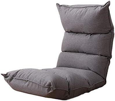 ビーズクッション シングルレイジーソファ折り畳み式の張り出し窓チェアベッドの背もたれチェアベッドフロアソファチェアL122×W50cm BRFDC (Color : Gray)