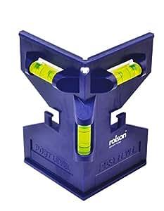 Rolson - Nivel de poste (3 niveles, medición horizontal y vertical)