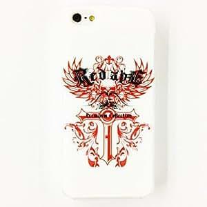 Patrón Punk alas del ángel de la Cruz del estuche rígido de policarbonato para el iPhone 4/4S , Multicolor