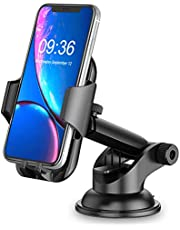 Car Phone Holder, TEUMI 360° Rotate Long Arm Strong Sticky Cell Phone Holder Car Dashboard & Windshield, Car Phone Mount Compatible with iPhone 13 Pro Max/12/11/XS /XR/8, Samsung Galaxy S20/Note 10
