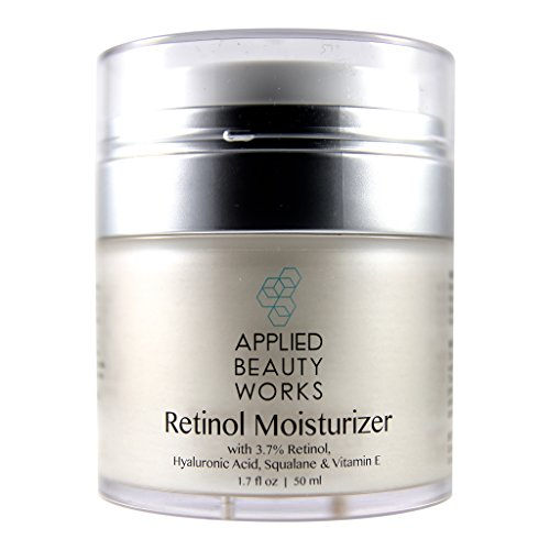 Applied Beauty Works Retinol Cream Moisturizer for Face and Eye area 1.7 oz with 3.7% Hyaluronic Acid, Squalane, and Vitamin E.