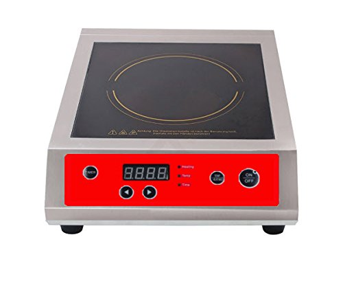 Induction Range, CounterTop Cooker, Quick Fast Heat-up, Stainless Steel Frame, NO FLAME 240V, 3500W by CMART