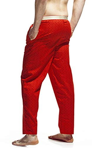 Pajama Bathing Pigiama Autunno Lunghi Vintage Primavera Da Targogo Sportivi Rosso Uomo Homewear Loungewear Pantaloni Pants xFYfxzBqKw