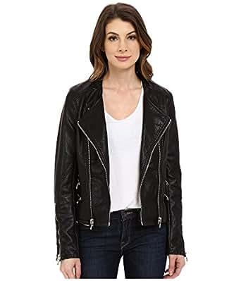 Blank NYC Women's Vegan Leather Moto Crop Jacket Black Outerwear XS