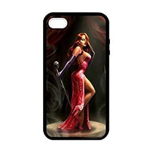 Jessica Rabbit Rubber Custom Durable Fashionable Perfect Design High Quality TPU Silicone Case Cover Skin For Apple iphone 4 4s , WilsonShop Rubber iphone 4 4s Case