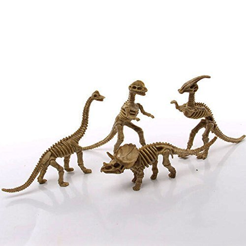 Dinosaur Skeleton Dinosaur Fossil Toys Education Realistic Character Toy Dinosaur Toys Simulation Plastic Toys Statues Toys(1-Pack of 12)