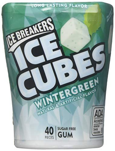 Ice Breakers ICE CUBES WINTERGREEN DISPENSER Pack LARGE, 13 oz -